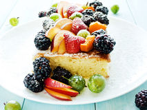 Berry sponge cake Royalty Free Stock Photo