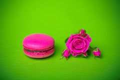 Berry spring color macaroon food background Stock Photos