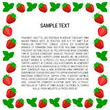 Berry strawberry frame with text Stock Images