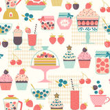 Berry sweets pattern Stock Photo
