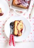Berry swirl pound cake Stock Photo
