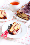 Berry swirl pound cake Stock Photo
