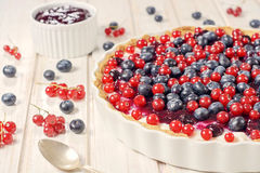 Berry tart cake Royalty Free Stock Photos