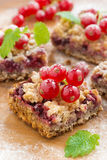 Berry tart with fresh red currants, close-up Royalty Free Stock Image