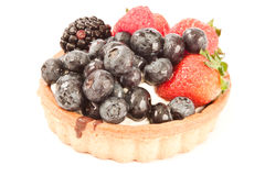 Berry tart, fruit tart Stock Photo