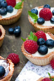 Berry tartlets Royalty Free Stock Images