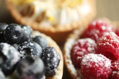 Berry tarts Royalty Free Stock Image