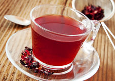 Berry Tea Transparent Cup Stock Photography