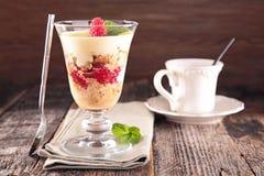 Berry tiramisu and coffee Royalty Free Stock Photos
