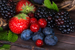 Berry and vanilla Royalty Free Stock Images