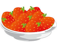Berry victoria in plate Stock Images