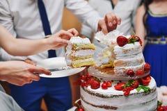 Berry Wedding Cake Lizenzfreie Stockfotografie