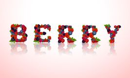 Berry word emblem Stock Images
