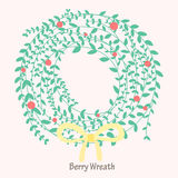 Berry Wreath Arkivbild