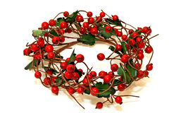 Berry wreath Stock Photo