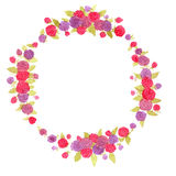 Berry wreath. berries.Fresh berries. watercolor wreath. Royalty Free Stock Image