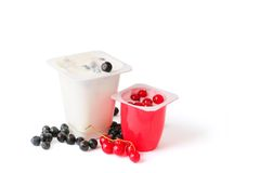 Berry yoghurts Royalty Free Stock Image