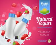 Berry Yogurt Advertising Composition Libre Illustration