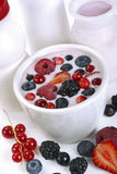 Berry yogurt with berries Stock Photo