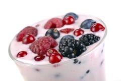 Berry yogurt with berries Royalty Free Stock Photo