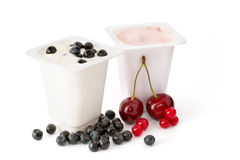 Berry yogurts Stock Photography
