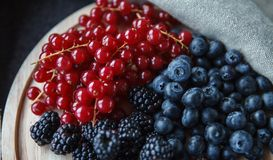 Berryes on a desk Stock Photography