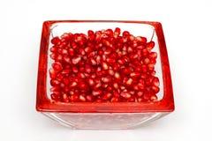 Berrys de la cadera de Rose en un tazón de fuente de cristal fotos de archivo libres de regalías