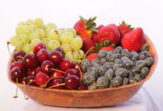Berrys and fruits Stock Images