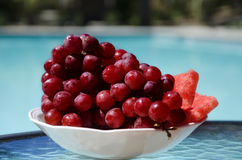 Berrys by the swimmimg pool Stock Photography