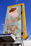 Berryville, Arkansas, United States, circa June 2016 - old drive-in ice cream sign. Retro drive-in ice cream stand sign in Berryville arkansas royalty free stock photo