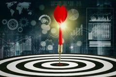 Bersaglio con il fondo finanziario di statistiche Immagine Stock