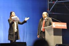 Bersani speech Royalty Free Stock Image