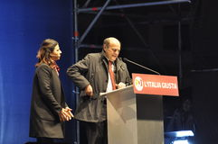 Bersani speech Stock Images