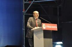 Bersani speech Royalty Free Stock Photo