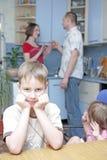 $überschneidung in der Familie Stockbild