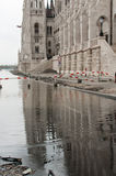 Überschwemmte Straße, Budapest Stockbilder