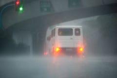 Überschwemmung verursacht von Typhoon Ondoy Stockbild