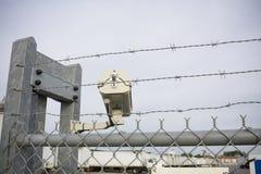 Übersehenlkw-Yard des Sicherheitsnockens Stockfotografie