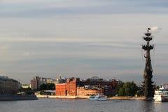 Bersenevskaya堤防和红色10月制造,莫斯科 库存照片