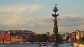Bersenevskaya堤防在莫斯科 股票录像