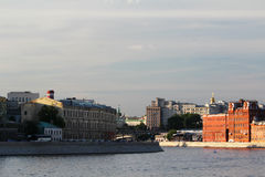 Bersenevskaya embankment and The Red October manufacture, Moscow Stock Photo