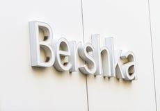 Bershka商店标志 免版税库存照片