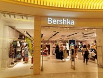 Bershka Store in Rome, Italy with people shopping. Stock Image
