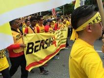 Bersih支持者在马来西亚展示 免版税图库摄影