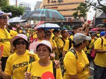 Bersih支持者在马来西亚展示 库存图片