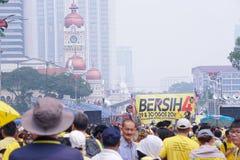 Bersih 4 在Dataran独立报,吉隆坡马来西亚的0次集会 免版税库存照片