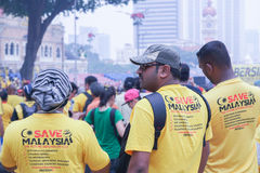 Bersih 4 在Dataran独立报,吉隆坡马来西亚的0次集会 库存照片