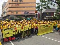 Bersih-Anhänger zeigen in Malaysia Lizenzfreie Stockfotos