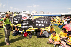 Bersih 4 crowds in Kuching Royalty Free Stock Photo
