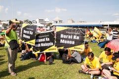 Bersih 4 folkmassor i Kuching Royaltyfri Foto